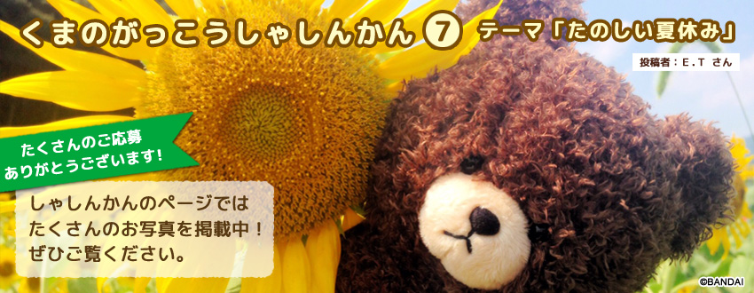 くまのがっこうしゃしんかん第7弾<br />~たのしい夏休み~ 掲載中!